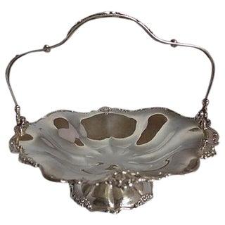 Silverplate Floral Pattern Wedding Basket