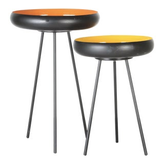 Contemporary Modernist Accent Tables - A Pair