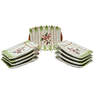 French Vallauris Asparagus Set- 9 Pieces
