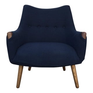 Navy Blue Lounge Chair