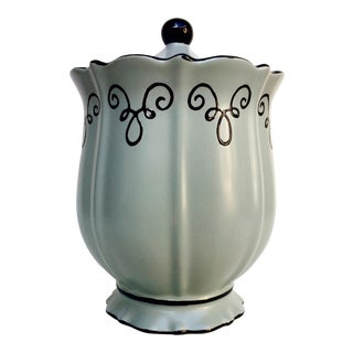 Chaleur Handpainted Canister in Ice Green
