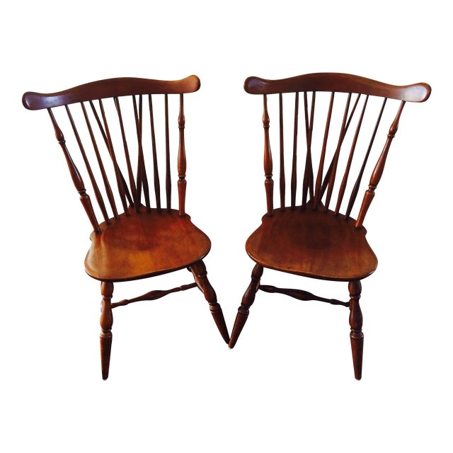 Heywood Wakefield American Braceback Chairs - Pair - Image 1 of 8