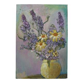 Daisies and Lilacs Oil Painting