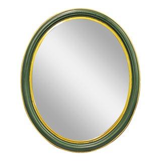 Amsterdam Oval Green Mirror