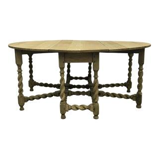 Bleached Oak Gate Leg Dining Table