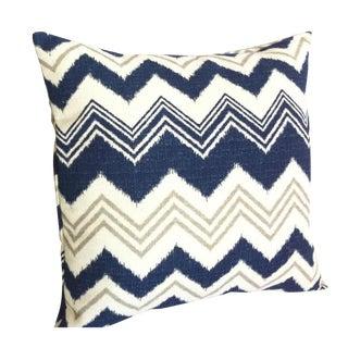 Blue & Cream Missoni Chevron Stripes Pillow Cover
