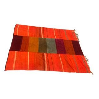 Orange Vegetable Dyed Wool Rug - 6′10″ × 8′
