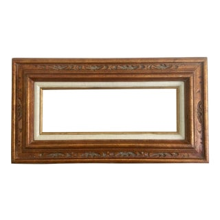 Carved Gold Frame With Linen Matting