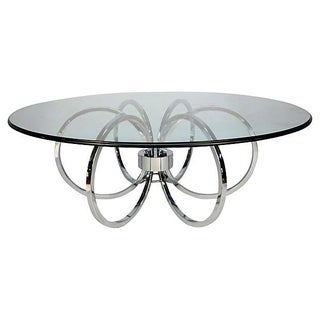 Mid-Century Chrome Ring Coffee Table