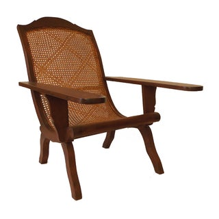 Anglo Indian Caribbean Caned Planter's Chair