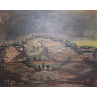 Abstract French Landscape Painting