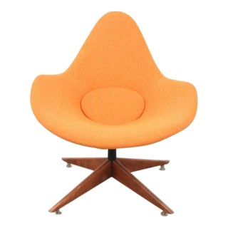 1960s French Pierre Paulin Style Lounge Chair