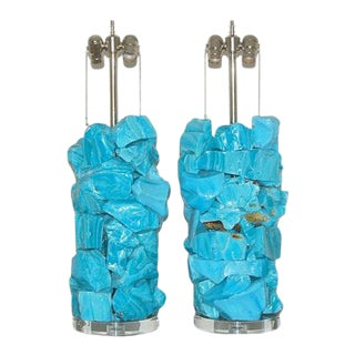 Rock Candy Glass Lamps in Blue