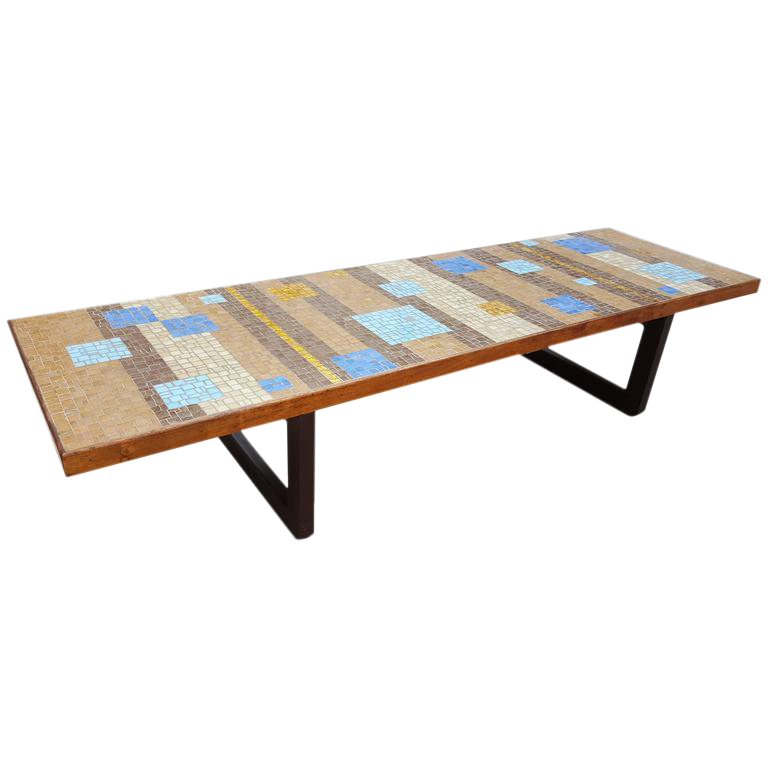 Beautiful Outstanding Large Scale Mosaic Tile Coffee Table   Image 1 Of 9
