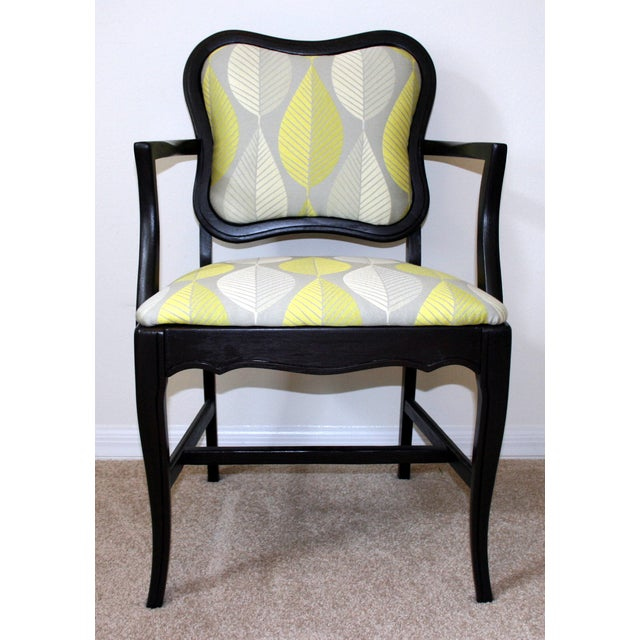 lime green and gray accent chair chairish. Black Bedroom Furniture Sets. Home Design Ideas