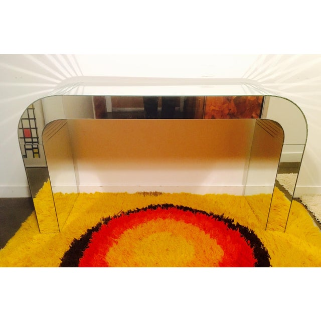 Vintage Mirrored Waterfall Console - Image 3 of 7