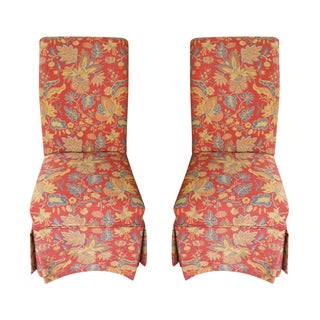 Pierre Deux Parson Skirted Chairs - Pair