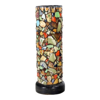Mosaic Heavy Pottery Cane or Umbrella Stand