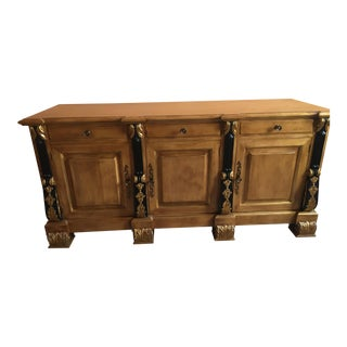 Black & Gold Accented Commode