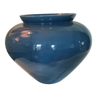 Vintage Cornflower Blue Pottery Vase
