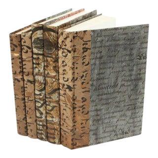 Antique Script Gold & Silver Books - Set of 5