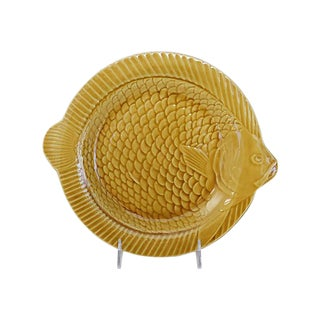 French Majolica Fish Wall Plate