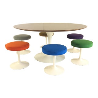 Saarinen for Knoll Table & Stools - Set of 7