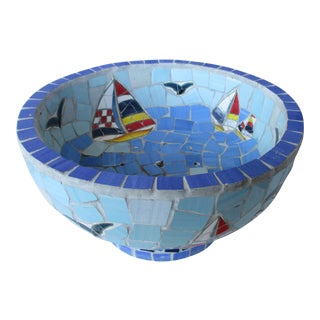 Coastal Mosaic Centerpiece Bowl