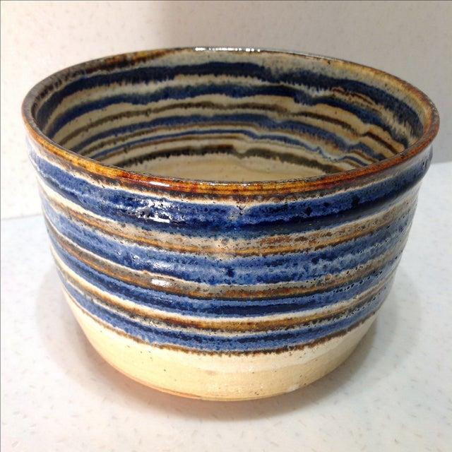 Vintage Handmade Pottery Bowl - Image 2 of 10
