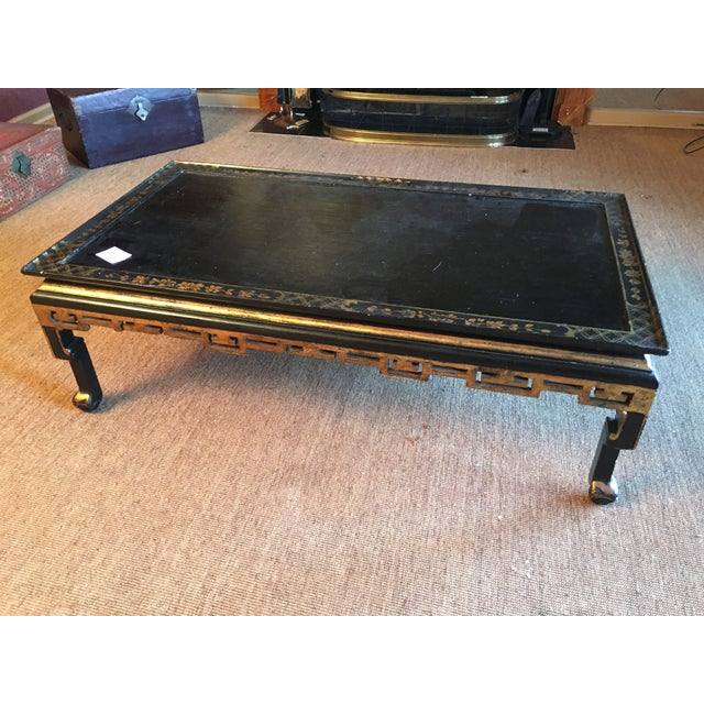 Image of Vintage Asian Black Lacquered Coffee Table