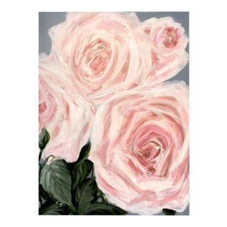 """Big Pink Roses"" Painting"