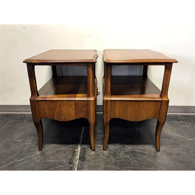 Image of Davis Cabinet Co French Provincial Nightstands - A Pair