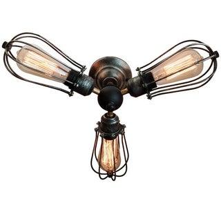 Vintage Industrial 3-Light Ceiling Fixture