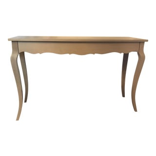 Sofa Table, French Grey, Solid Wood