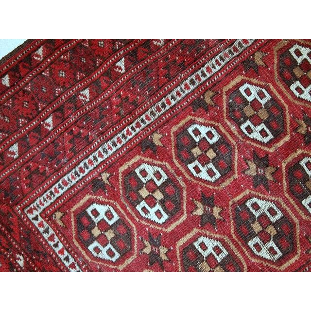 Antique Afghan Rugs: 1920s Antique Afghan Adraskand Hand Made Prayer Rug