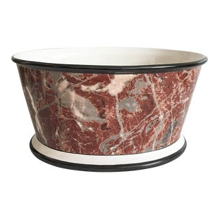 Large Italian Marbleized Ceramic Jardinere Planter