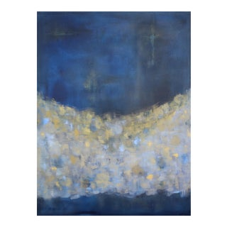 Indigo Blue Ode to Klimpt Modern Abstract Painting