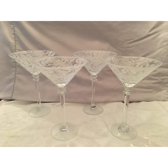 Image of Michael Weems Crystal Frosted Martinis - Set of 4