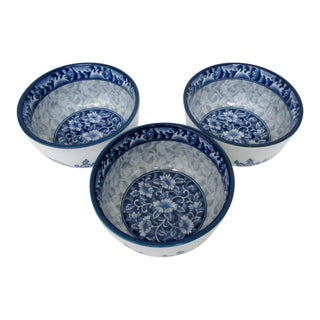 Porcelain Lotus Bowls - Set of 3
