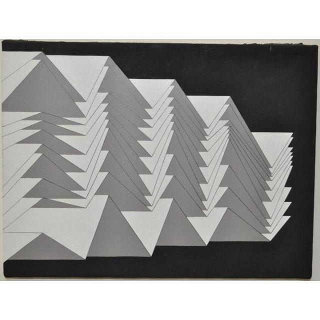 1988 Charles Hersey Vintage Geometric Painting - Image 3 of 5