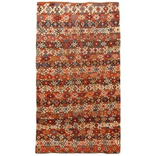 Antique Mid-19th Century Caucasian Kilim