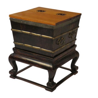 Chinese Ice Chest on Stand