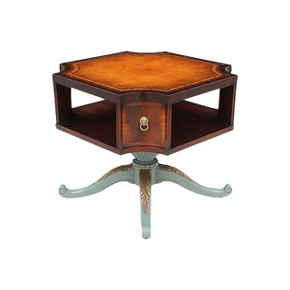 Revolving Mahogany Bibliotheque Table