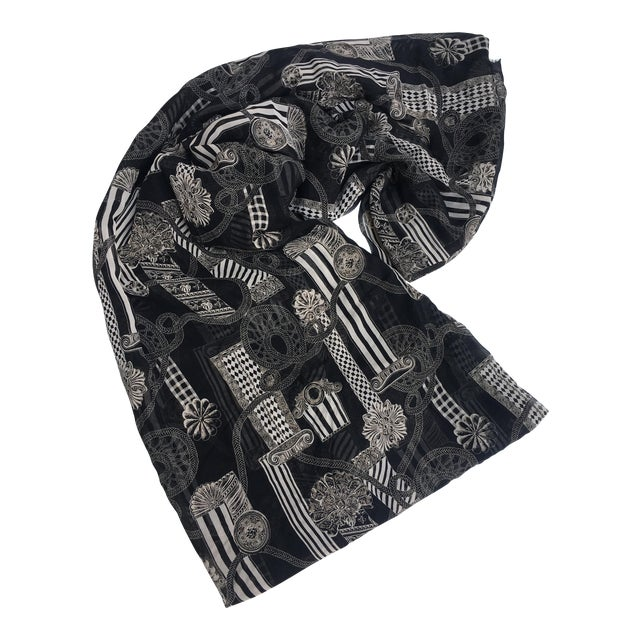 Image of Versace Column & Rope Chiffon Fabric