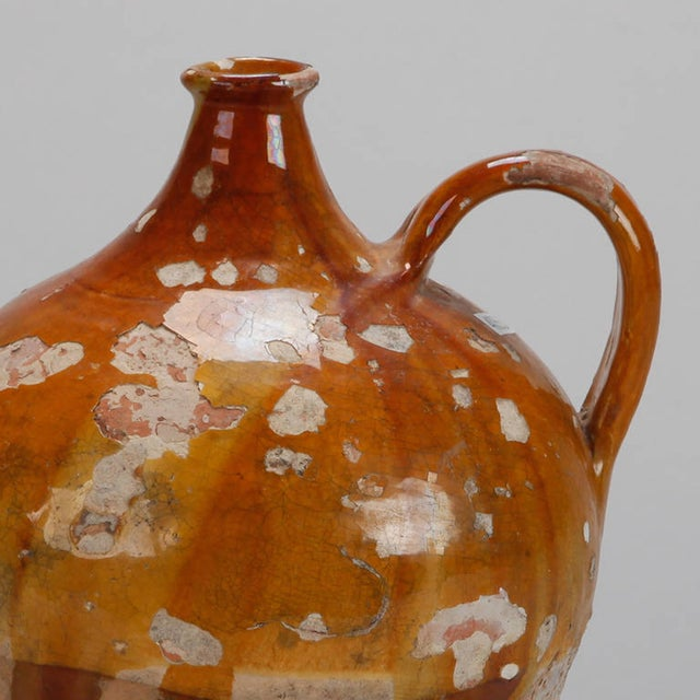 Antique French Pottery Jug with Yellow Glaze - Image 3 of 7