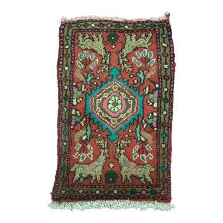 Handmade Persian Hamedan Rug - 1′3″ × 2′