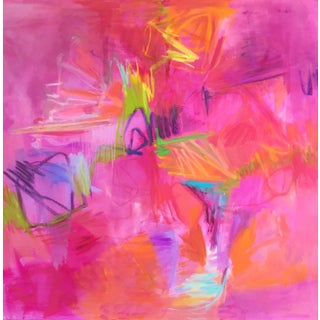"""Valentine"" Large Abstract Oil Painting by Trixie Pitts"