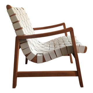 1950s Vintage Jens Risom Lounge Chair With Webbing for Knoll