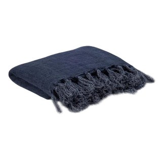 Lightweight Indigo Throw