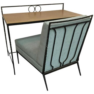EXCEPTIONAL DESK AND CHAIR IN THE MANNER OF HERMES
